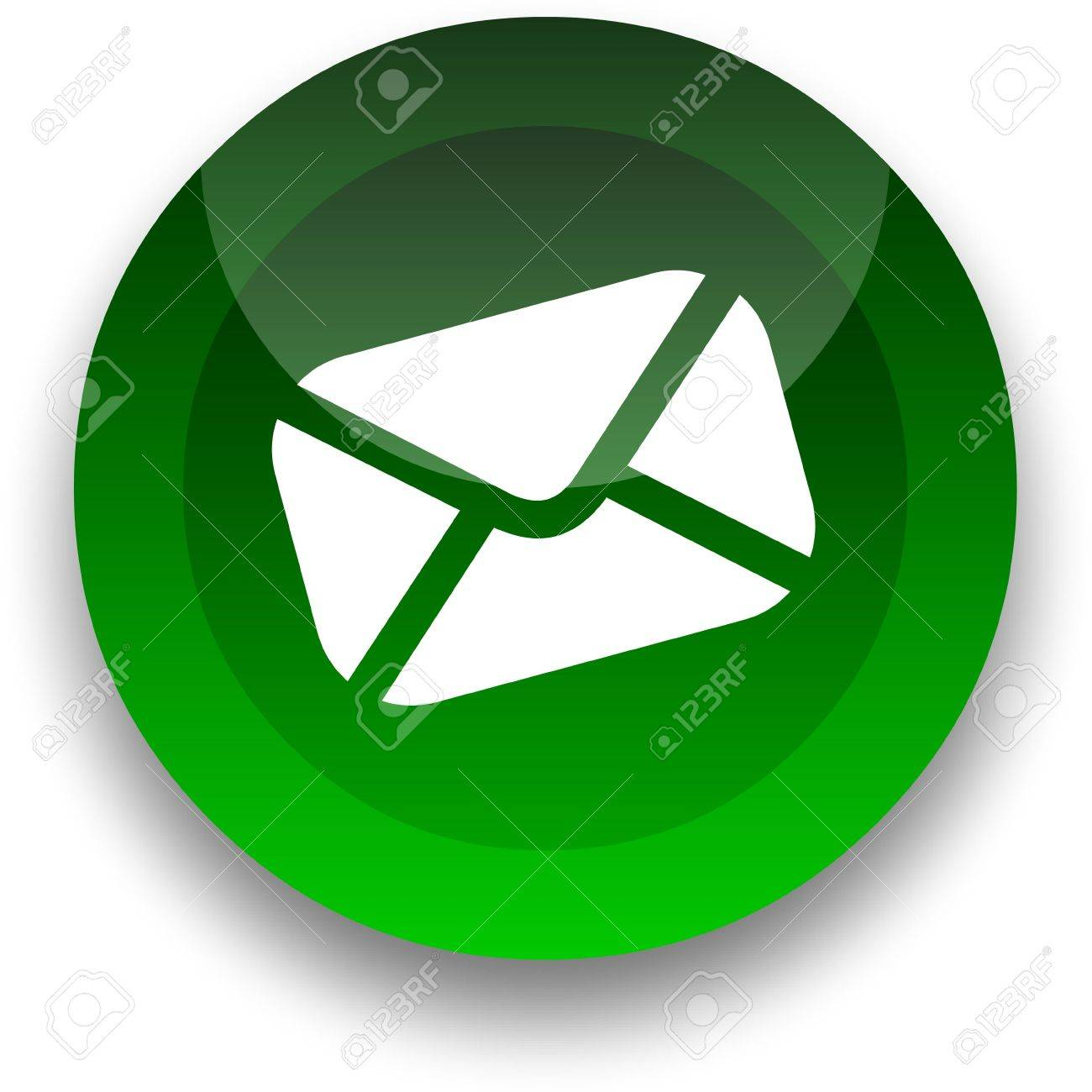 Email icon for use as a contact button Stock Photo - 3538777
