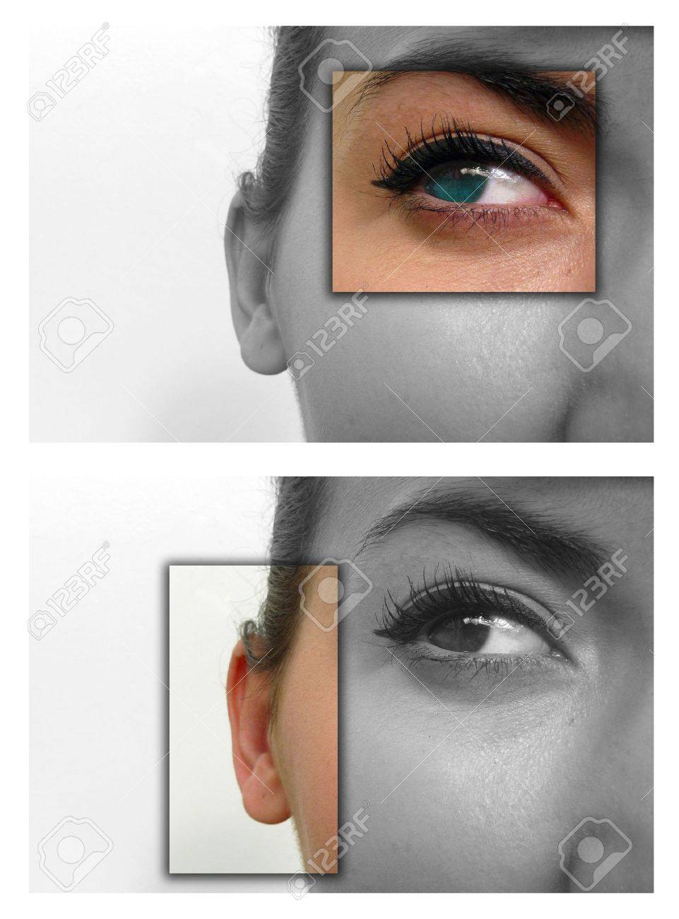Facial close ups to show deaf & blind Stock Photo - 3642224