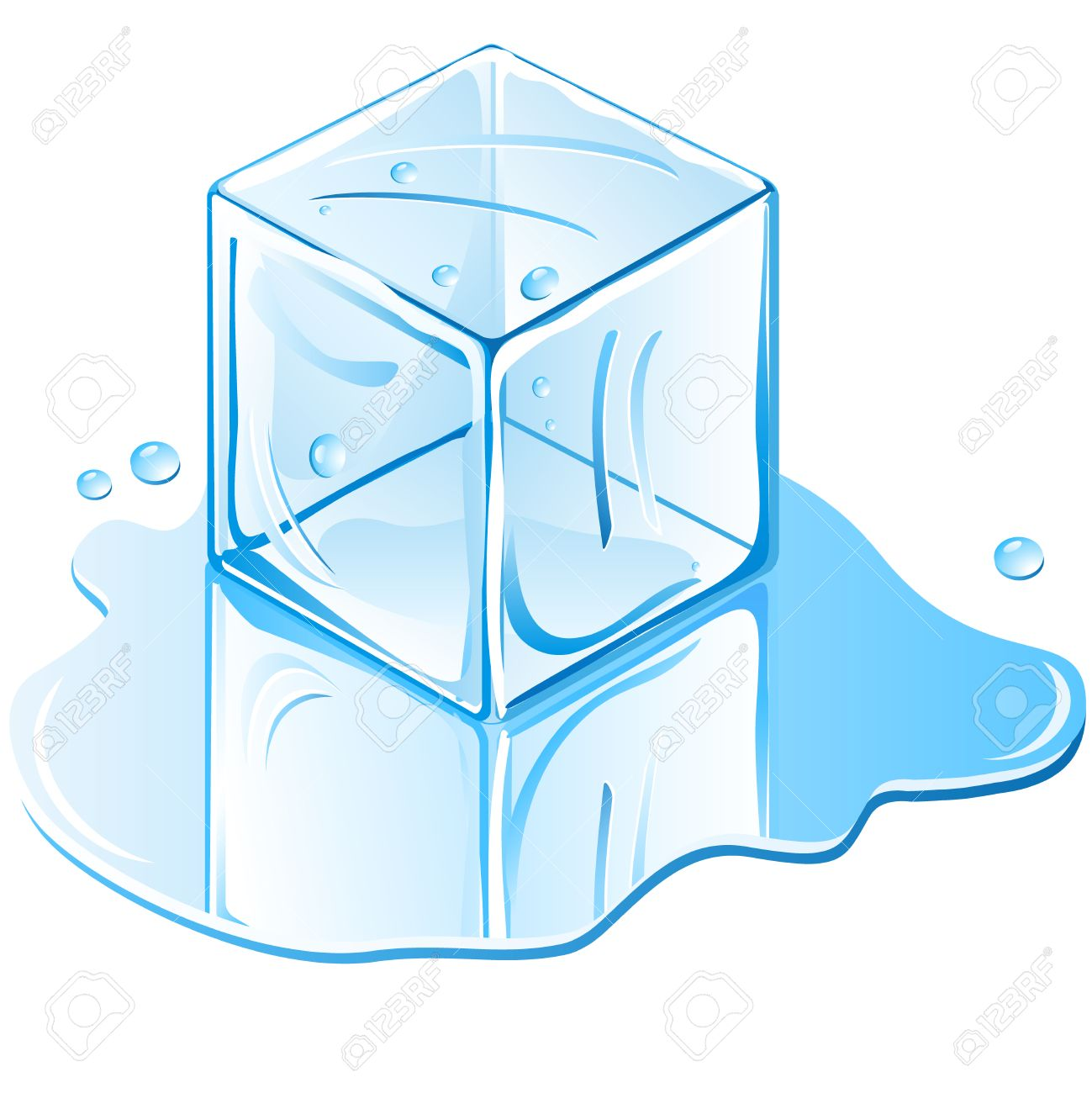 Ice Cubes Drawing Ice Cubes in Water Ice Cube