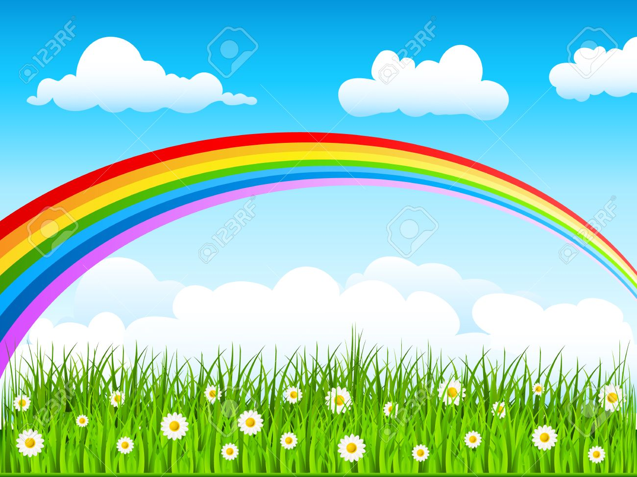 Rainbow in the sky Stock Vector - 8145481