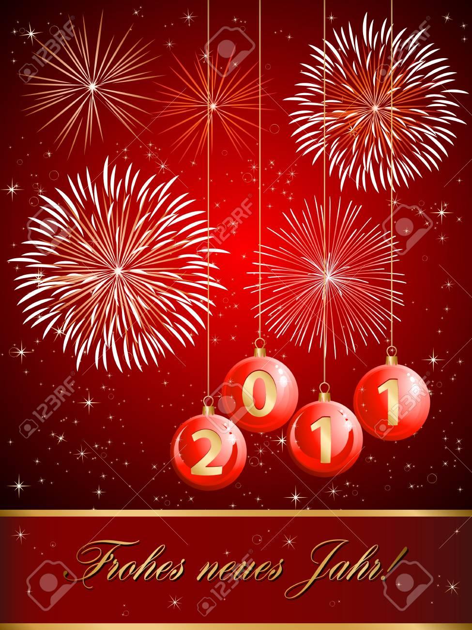 fireworks and christmas balls 2011 Stock Vector - 8503187
