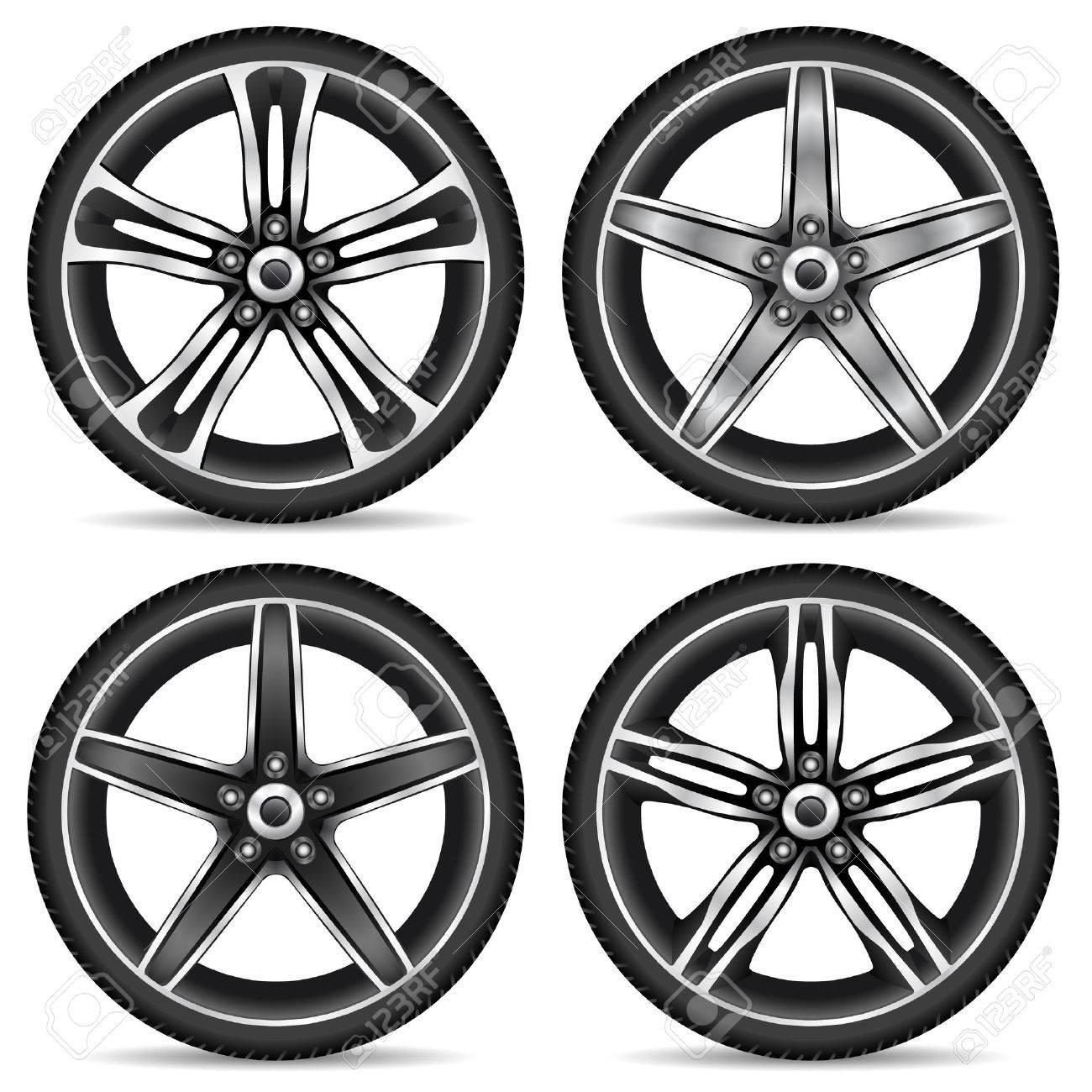 aluminum wheel set Stock Vector - 8576472