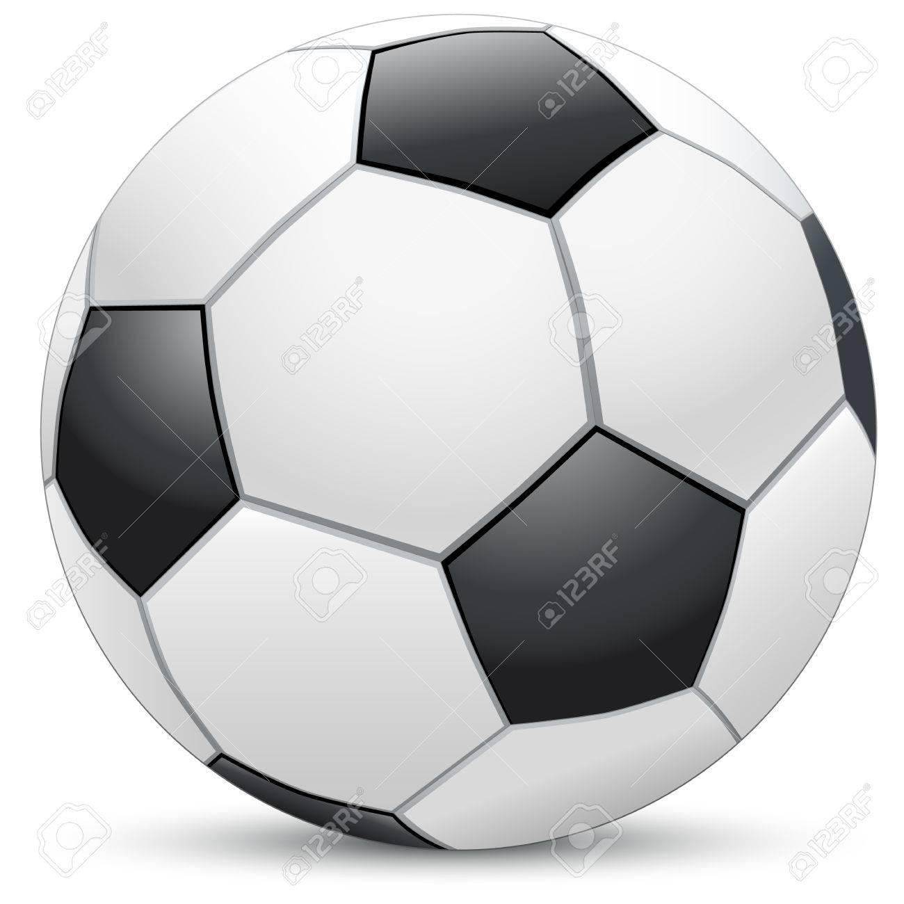 realistic soccer ball Stock Vector - 8576478