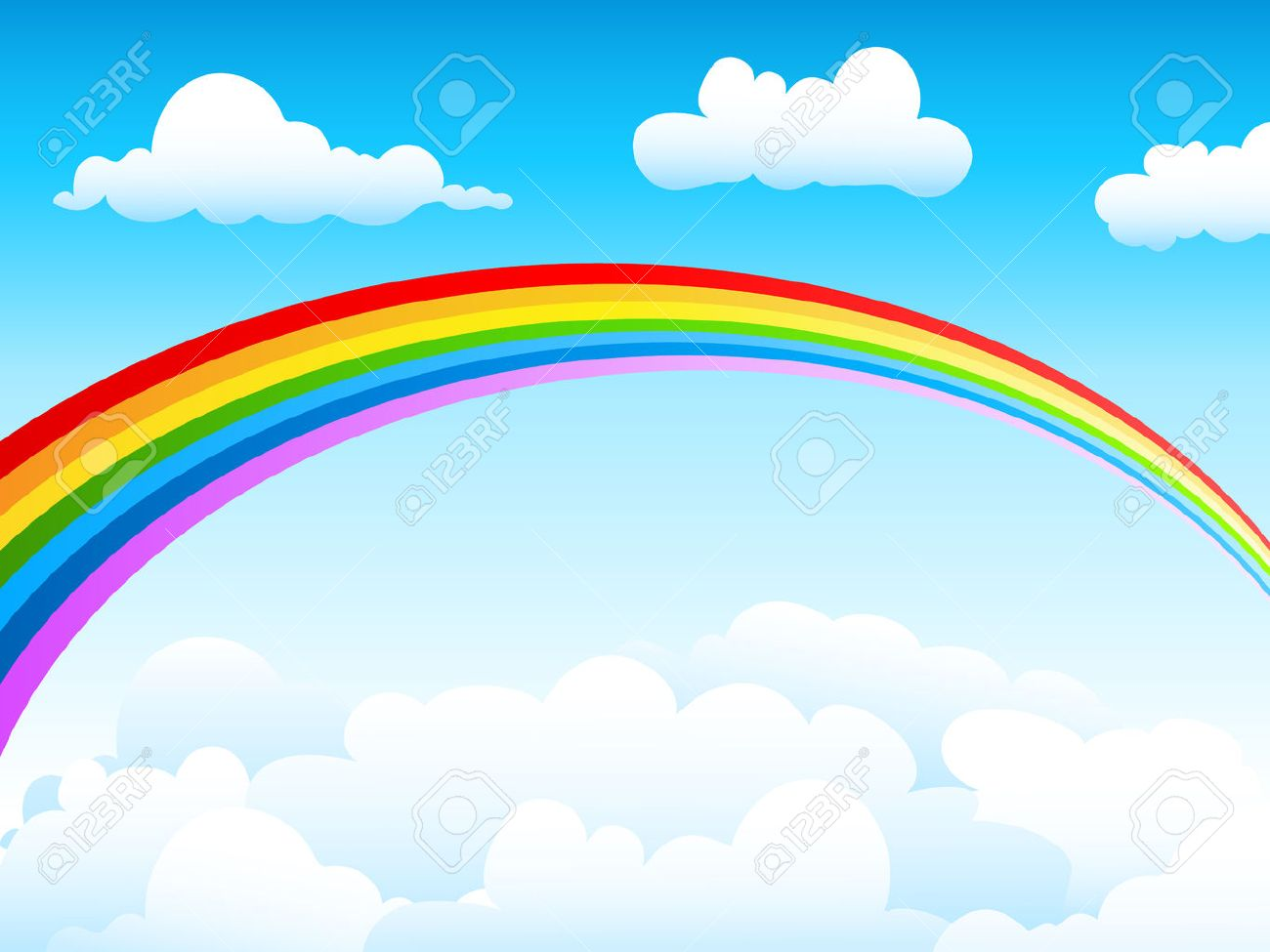 blue sky and rainbow royalty free cliparts vectors and stock rh 123rf com free vector sky free vector skydiving
