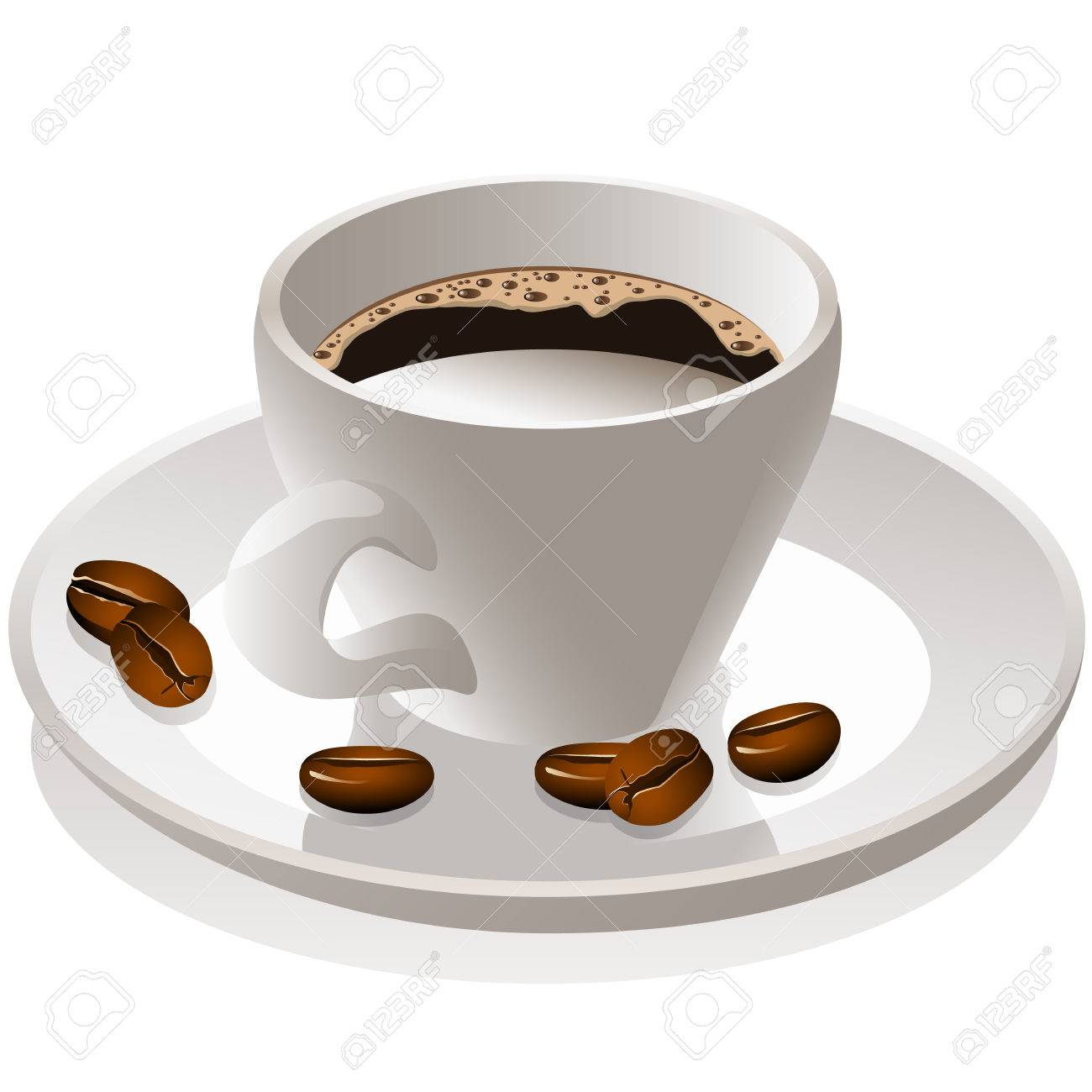 coffee cup and coffee beans Stock Vector - 8891406