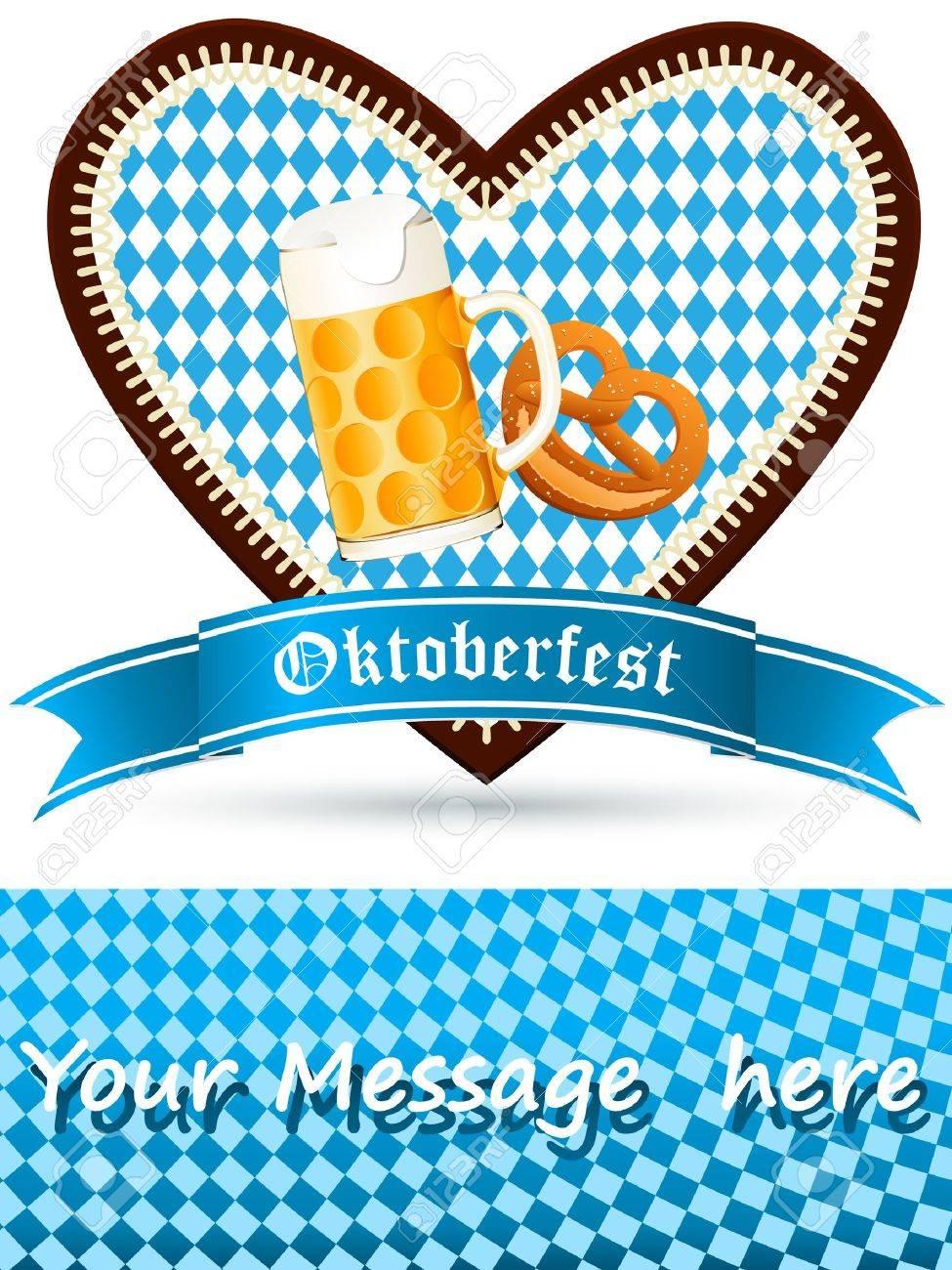 oktoberfest party-einladung lizenzfrei nutzbare vektorgrafiken, Einladung