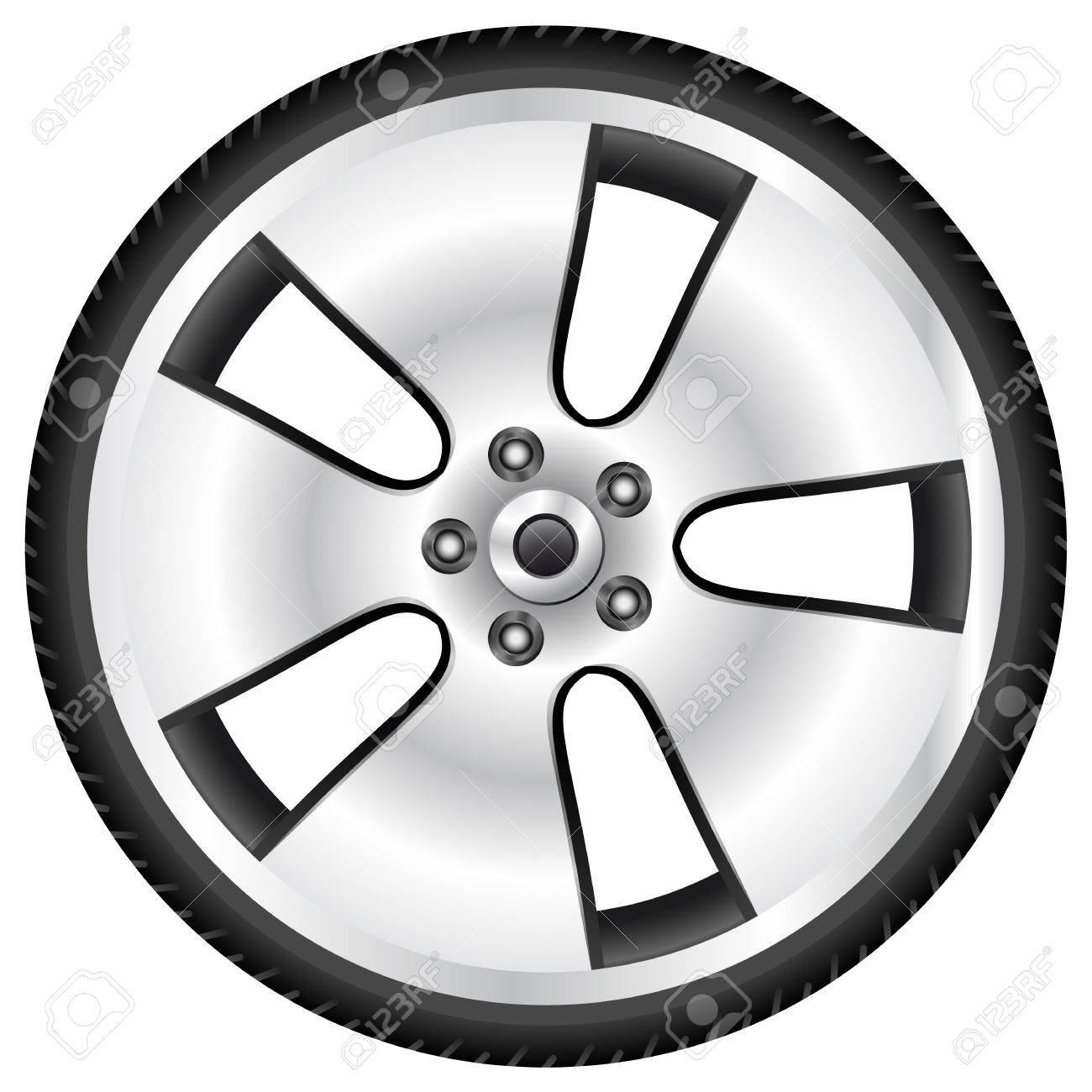 aluminum wheel Stock Vector - 14684338
