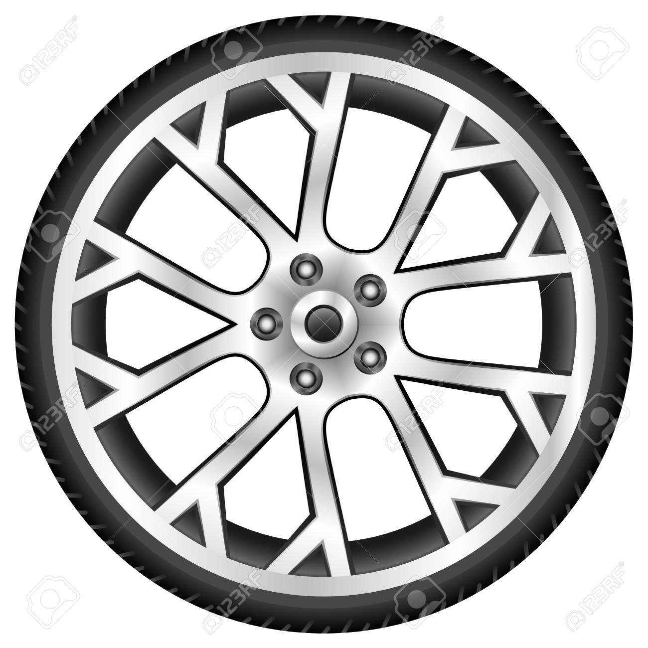 aluminum wheel Stock Vector - 14684339