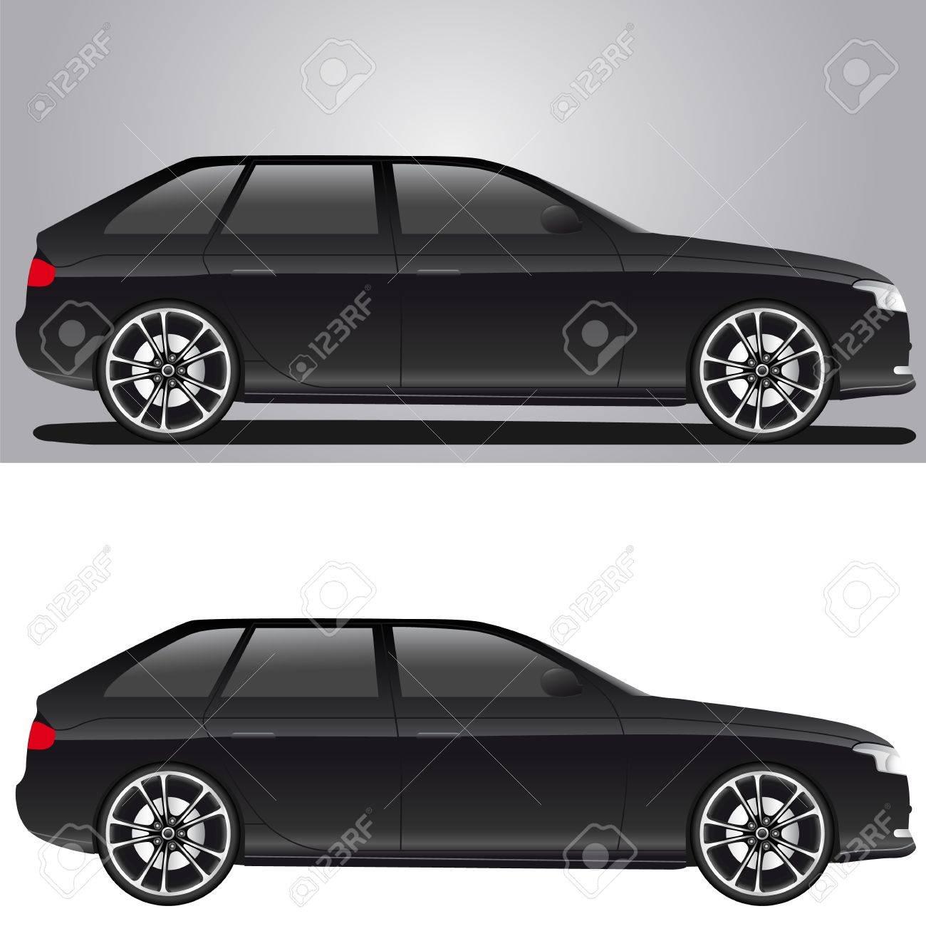 modern black car Stock Vector - 14926666