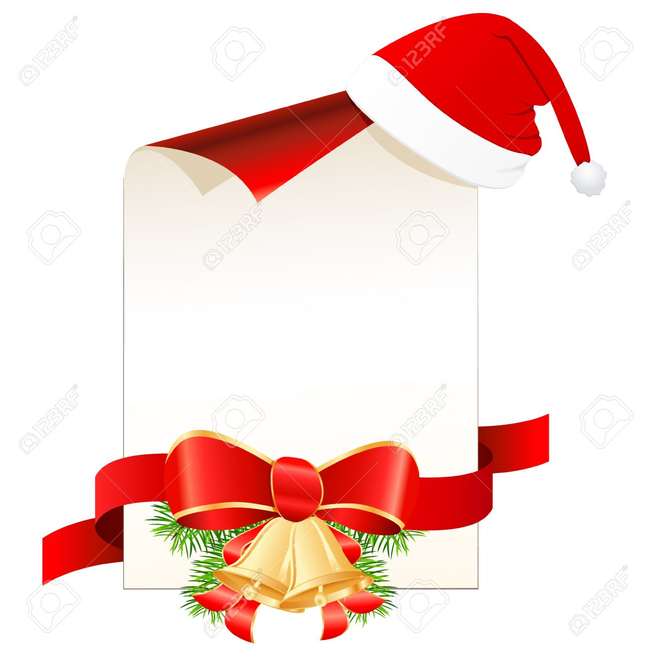 Christmas Wish List With Santa Hat Royalty Free Cliparts, Vectors ...