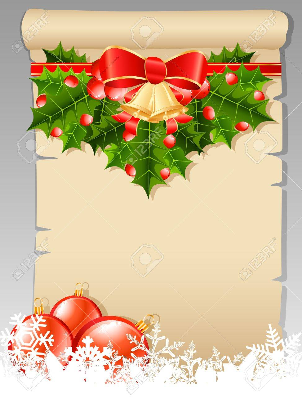 Christmas Wish List With Christmas Decoration Royalty Free Cliparts