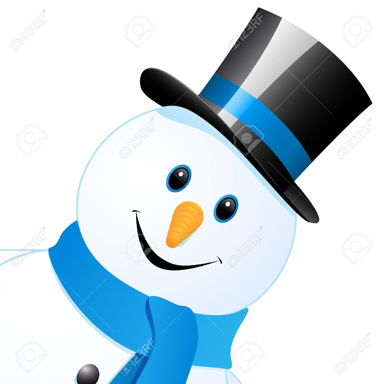 snow man with top hat Stock Vector - 16641784