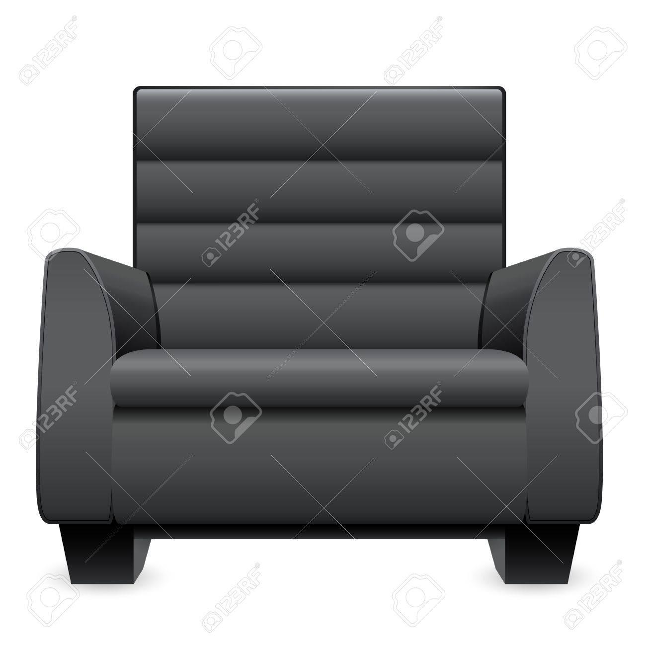 Black Leather Armchair Stock Vector   16752599