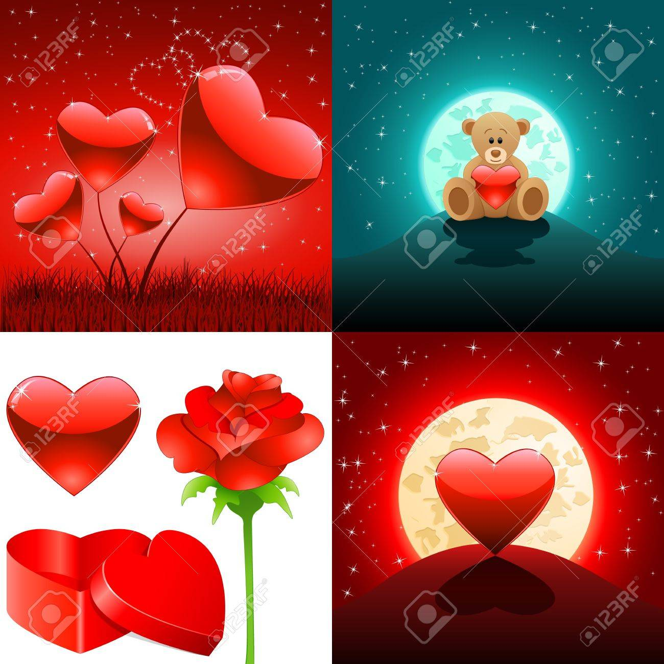 Valentine s day backgrounds and love symbols Stock Vector - 17617138