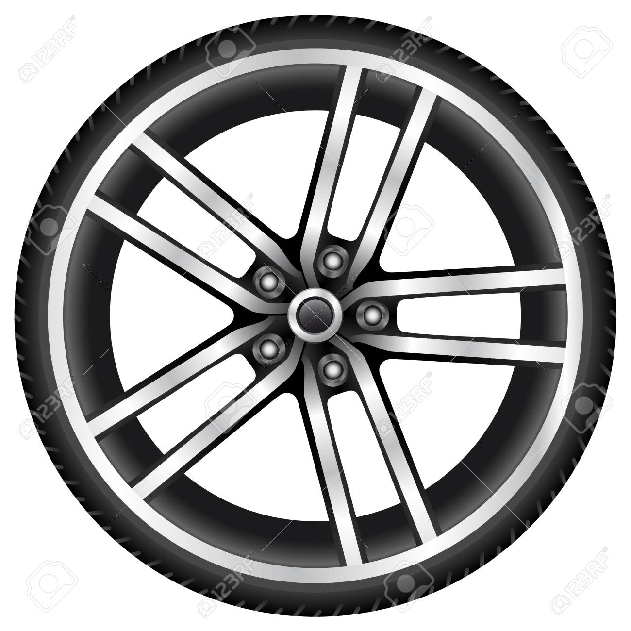 aluminum wheel Stock Vector - 18803365