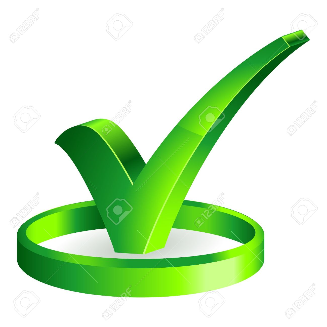3d Check Mark Icon Royalty Free Cliparts Vectors And Stock