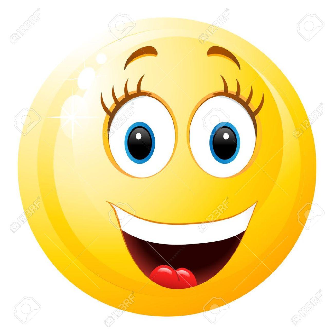 Lachender Smiley Mädchen Lizenzfrei Nutzbare Vektorgrafiken Clip