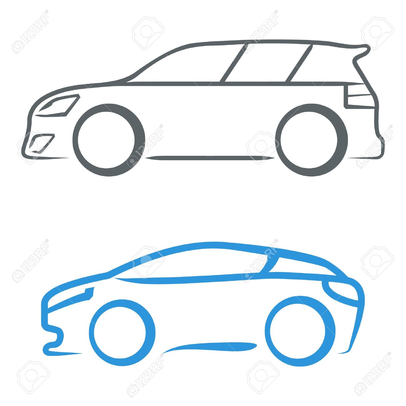 sports car sign symbol royalty free cliparts vectors and stock