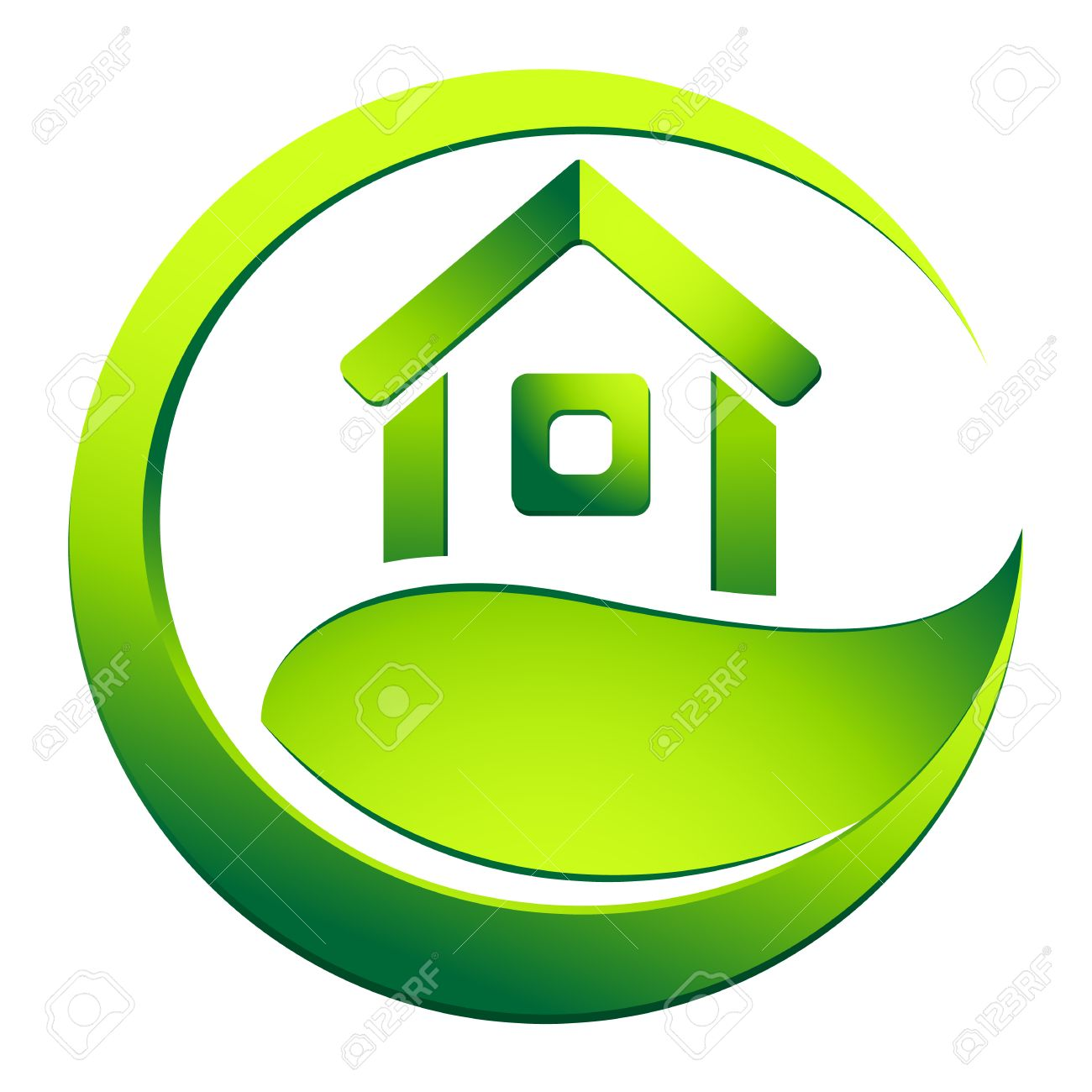Eco Friendly House   Real Estate Symbol Stock Vector   22814667