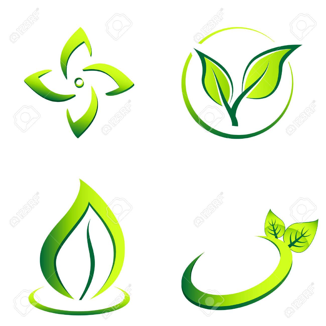 green eco icons - 24183832