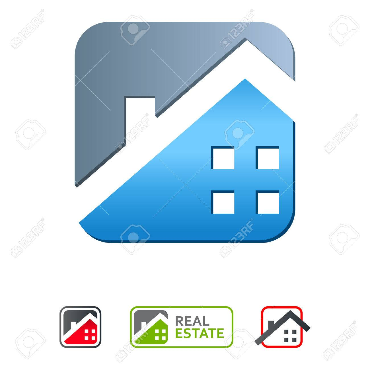 real estate icons Stock Vector - 24183833