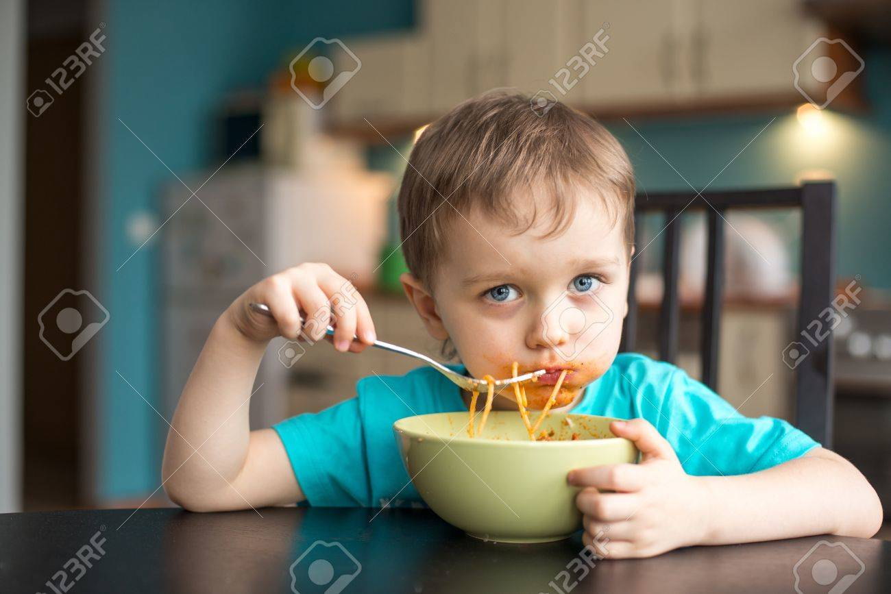 3 Year Old Boy 3 Year Old Boy While Eating