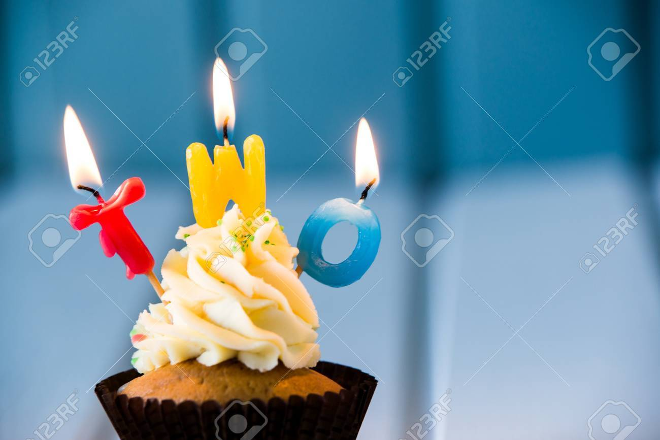Brilliant Birthdays Cake Cupcake With A Candles For 2 Second Birthday Funny Birthday Cards Online Eattedamsfinfo