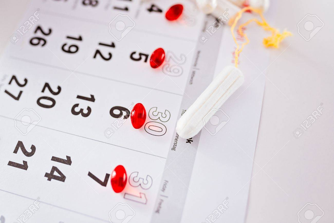 Calendrier Pour Les Regles.Protection Hygienique Pour Les Femmes Calendrier Des Regles Et Tampons Hygieniques Propres Jours De Menstruation Marques