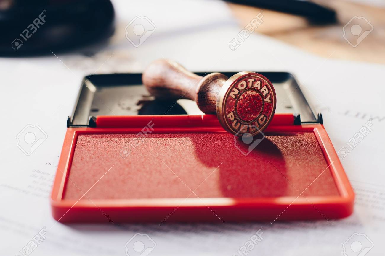 Metal notary public ink stamper. Law office. - 83557727