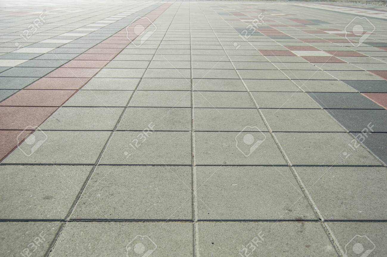 gray paving tiles background - 121071523