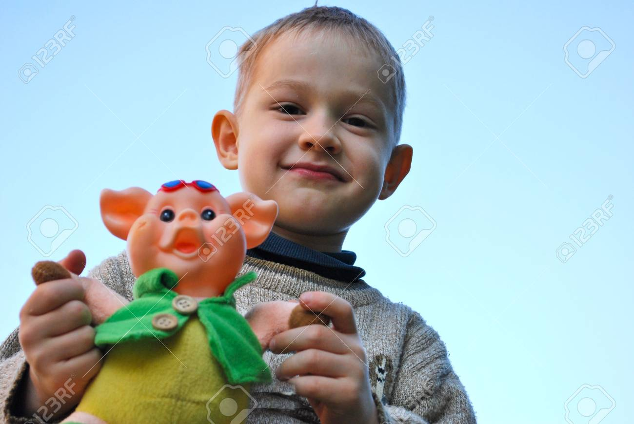 adorable young boy looking at camera Stock Photo - 5717011