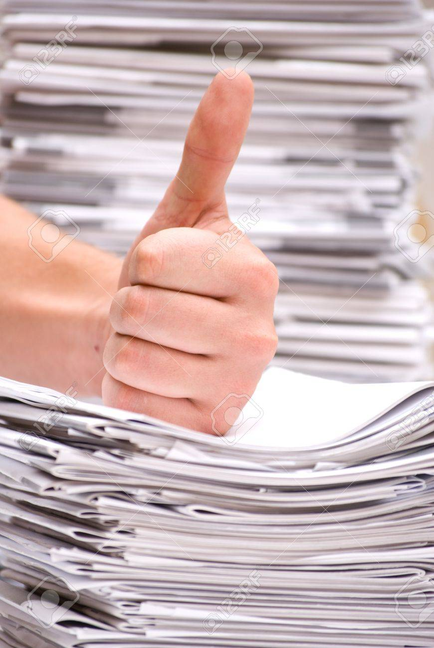 a stack of magazines Stock Photo - 10417956