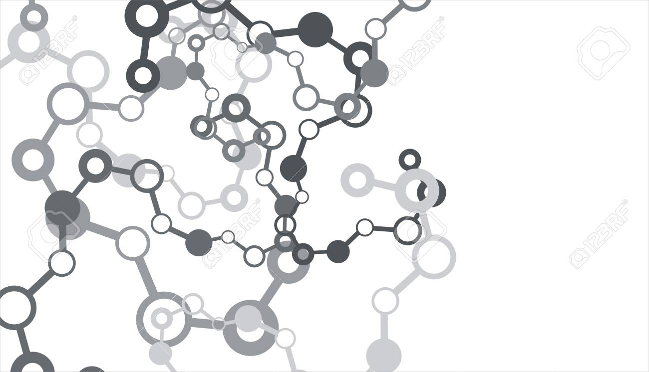 Molecule on the white background Stock Photo - 10922503