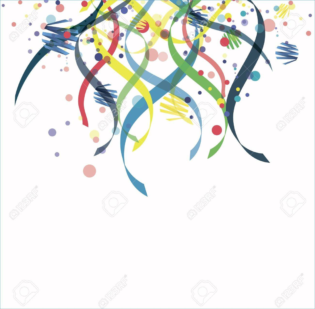 Confetti isolated on a white background Stock Photo - 12412049