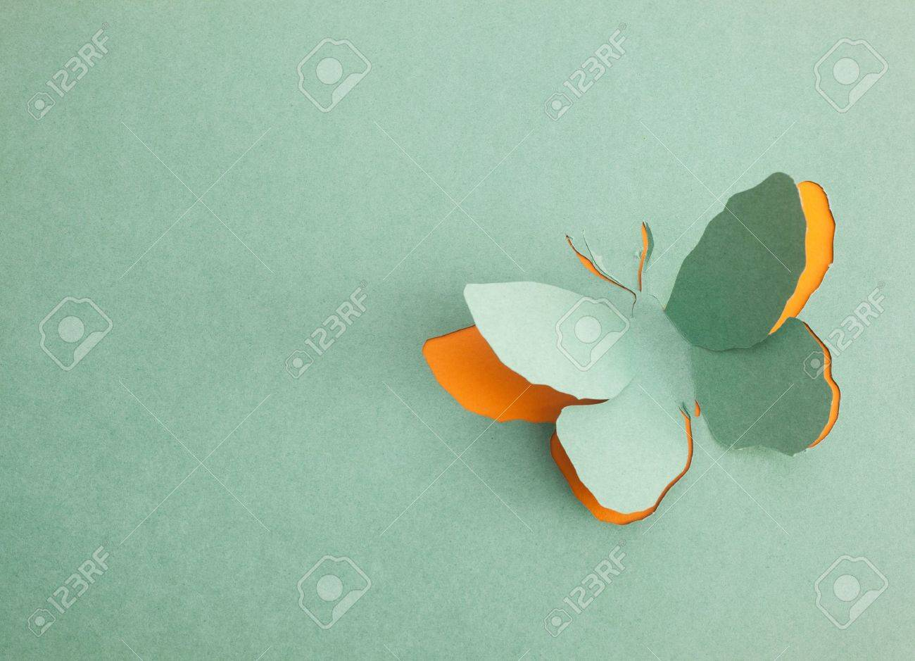 Butterfly origami Stock Photo - 15365606