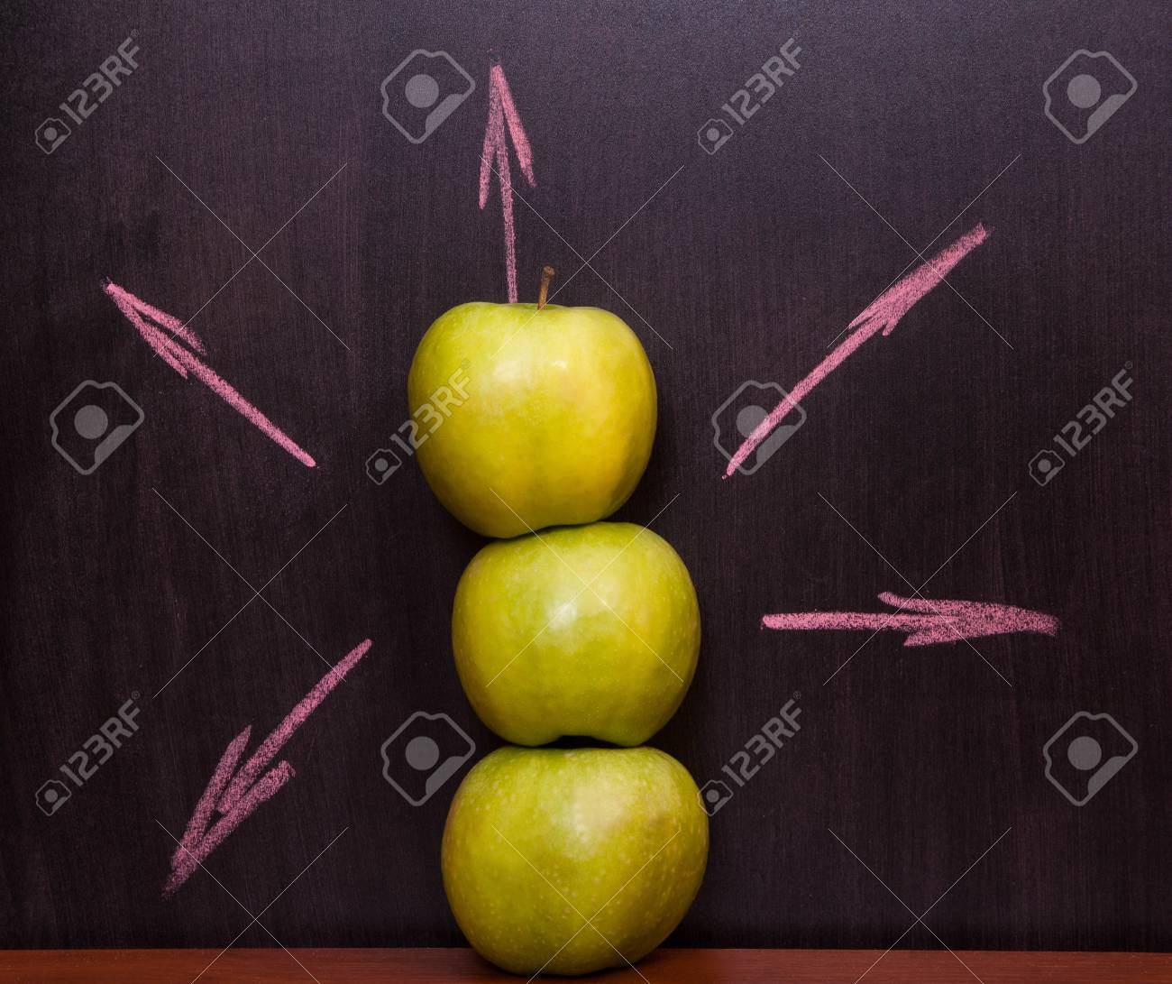 Classroom chalkboard with apples. Stock Photo - 19290034