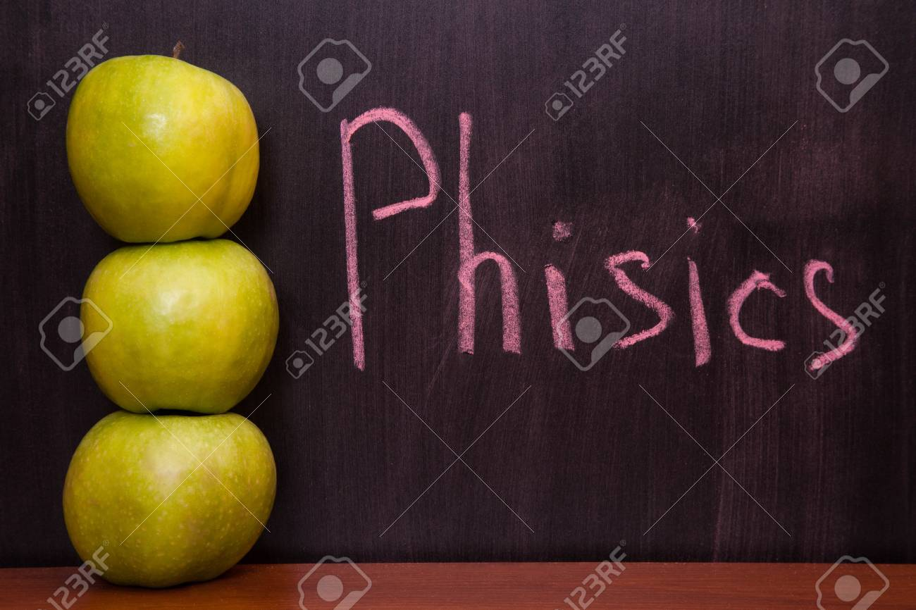 Classroom chalkboard with apples. Stock Photo - 19290068