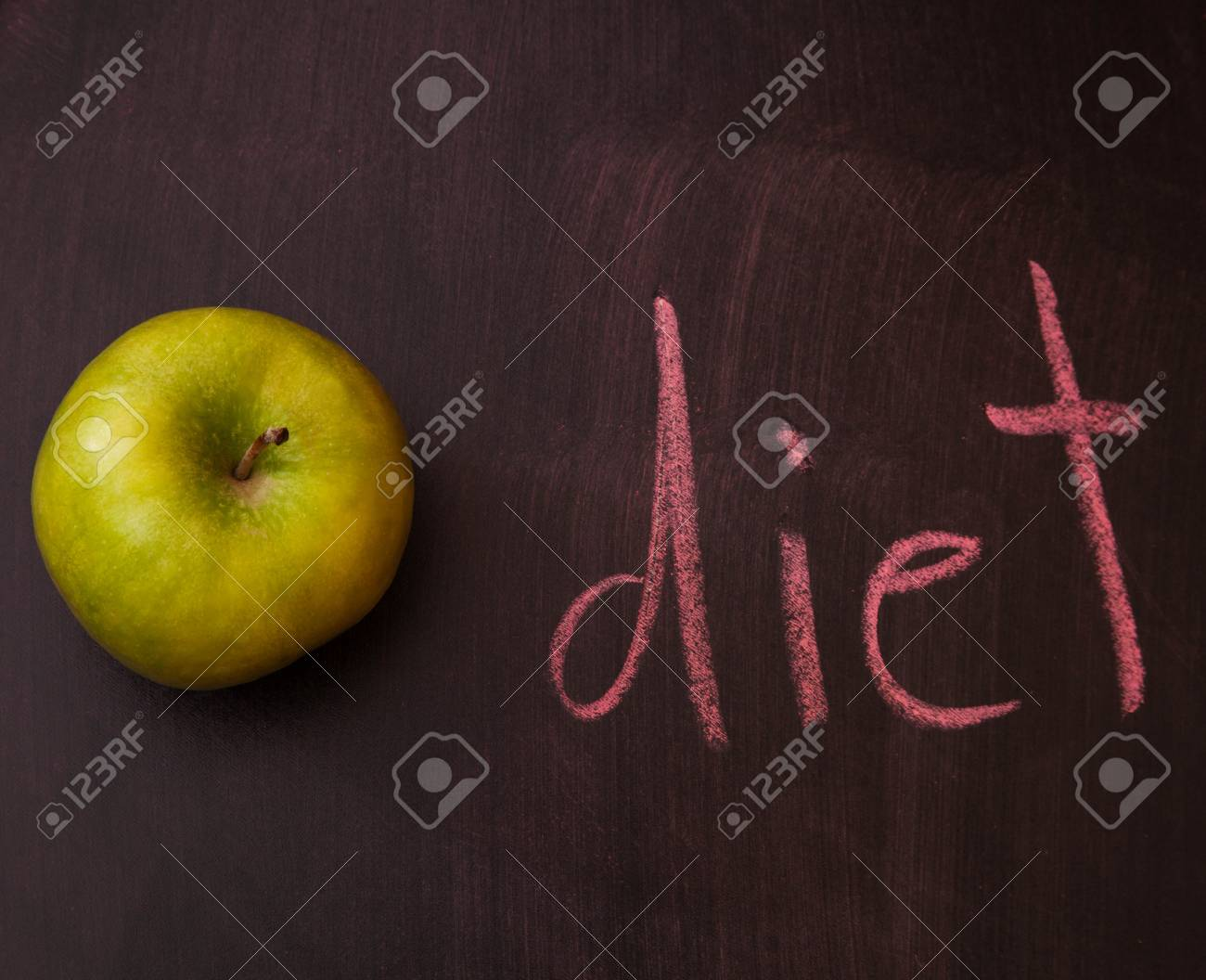 Classroom chalkboard with apples. Stock Photo - 19289938