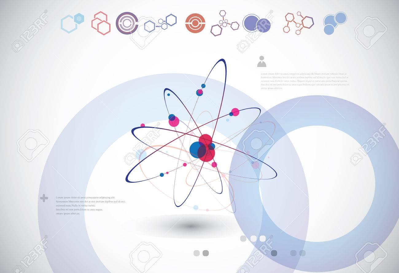 Estructura Molecular O Conexión Celular En El Fondo Gris