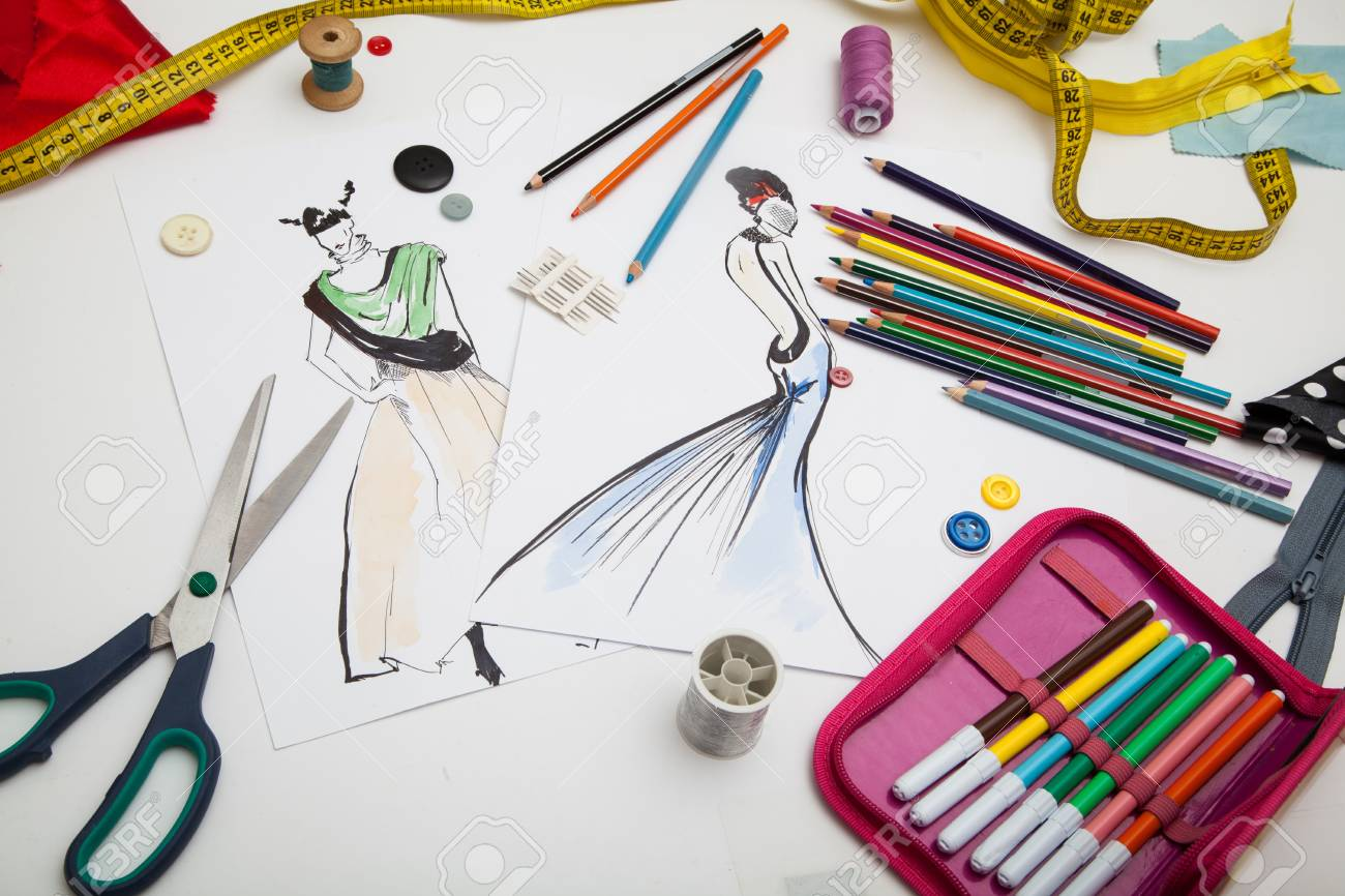 Fashion Designer Background Stock Photo Picture And Royalty Free Image Image 77327369