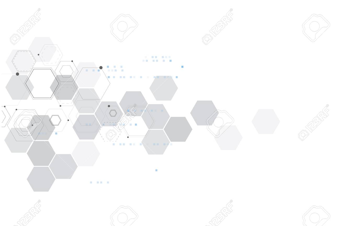Abstract particles connection. Technology and chemistry background. - 126660259