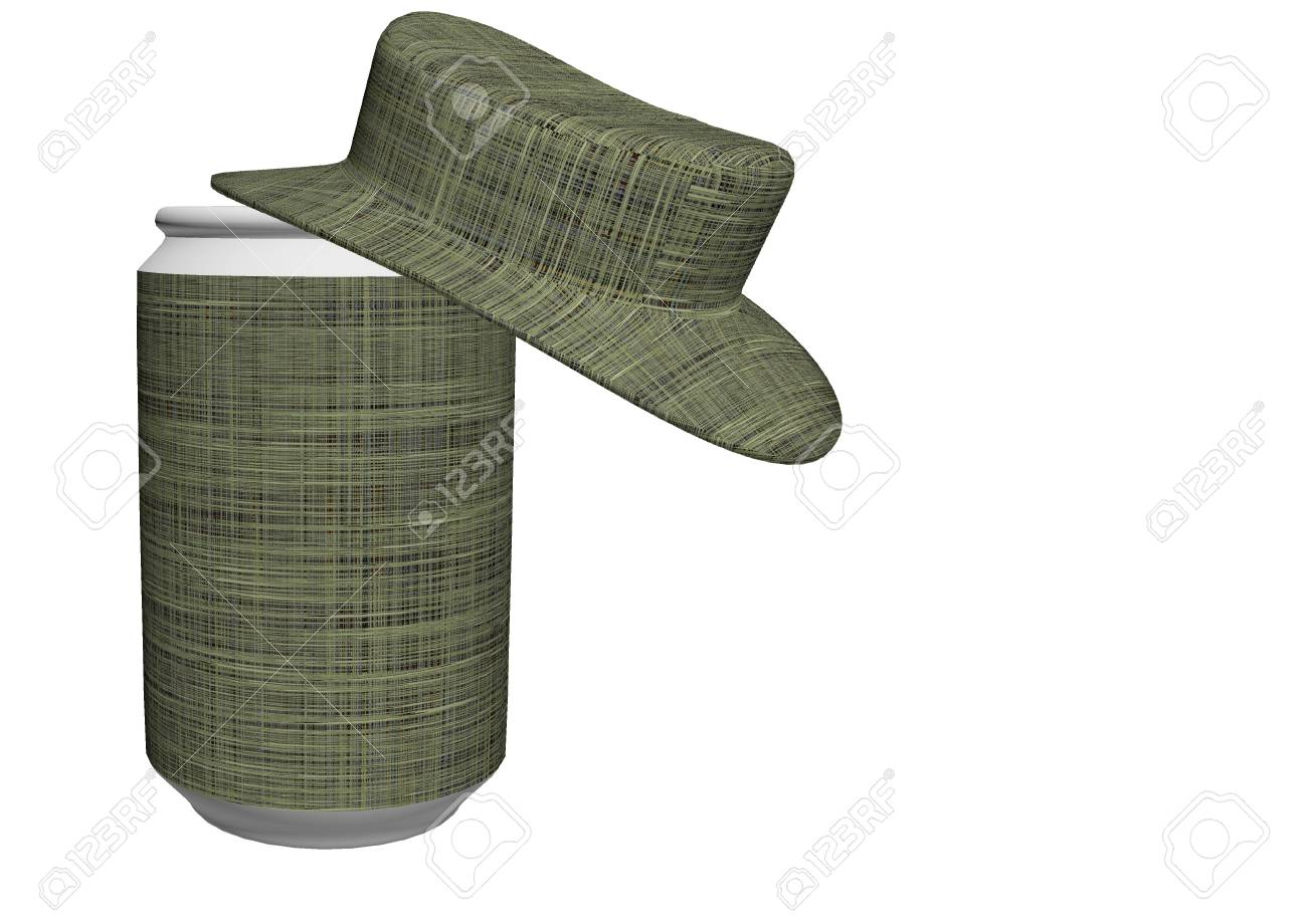 can of soda and a hat Stock Photo - 12551745