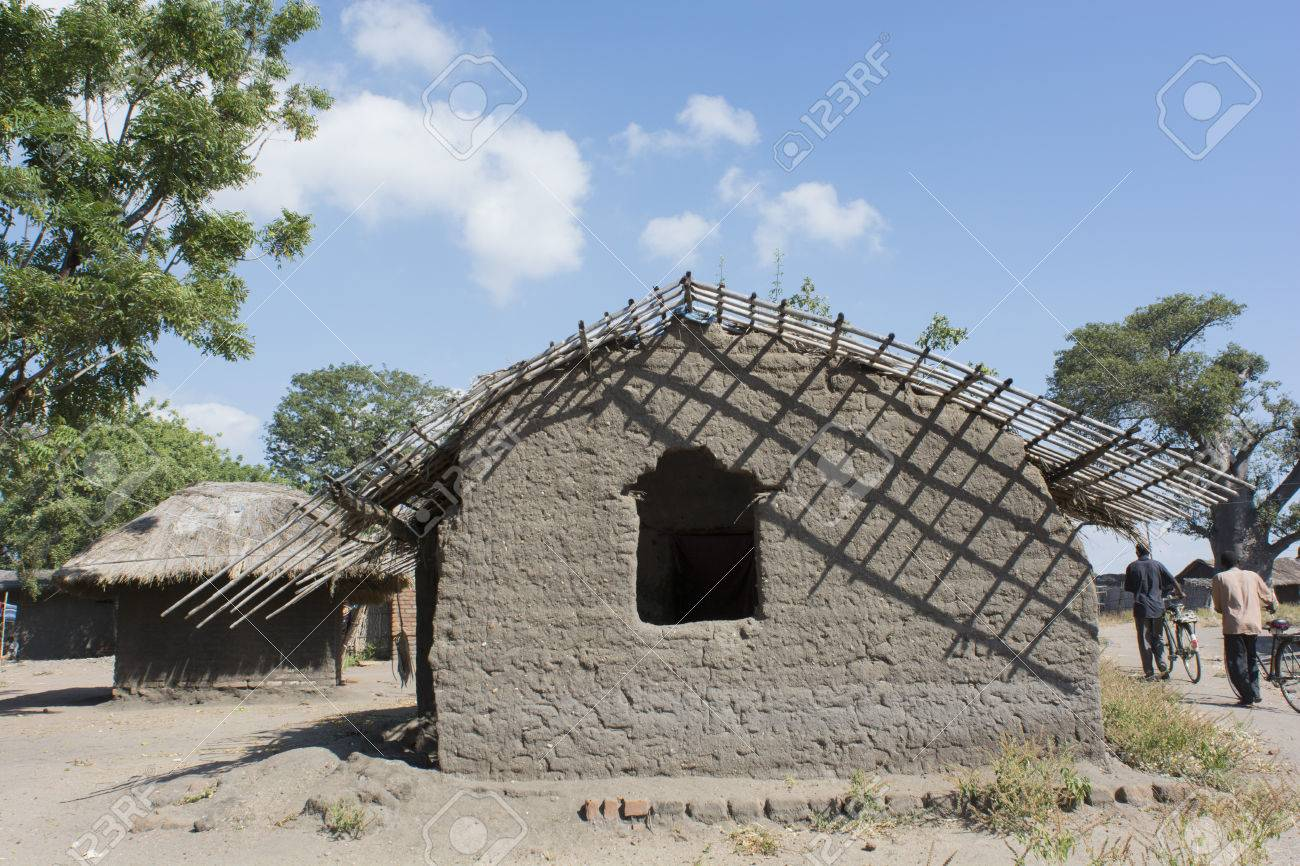 Typical African House Made Of Mud Bricks Stock Photo Picture And