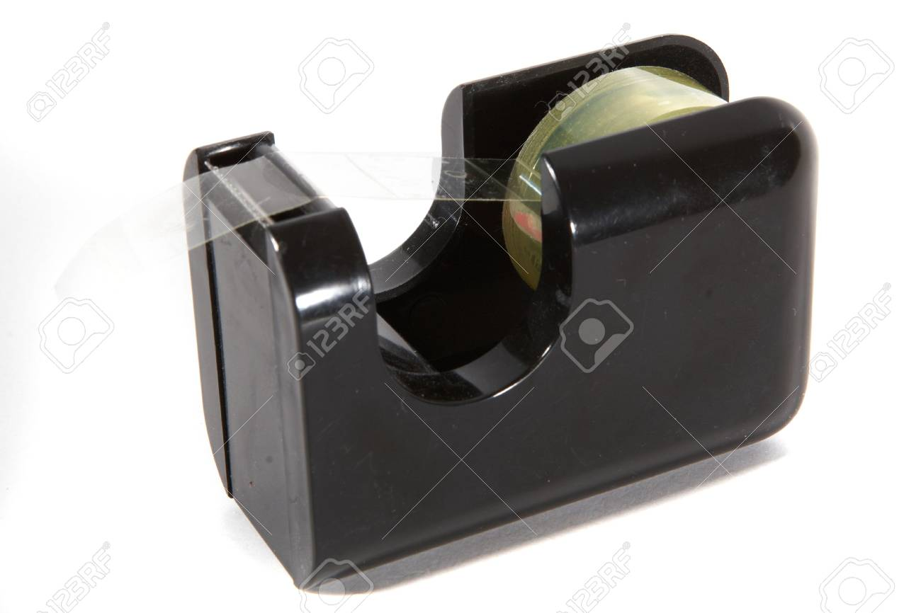 Plastic tape on a roll over a white background. Stock Photo - 5431370
