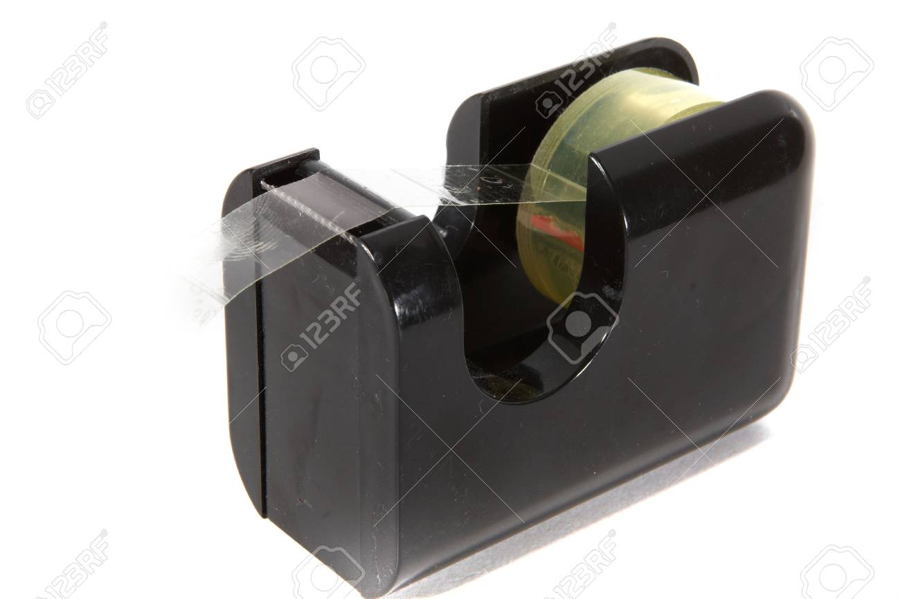 Plastic tape on a roll over a white background. Stock Photo - 5465720