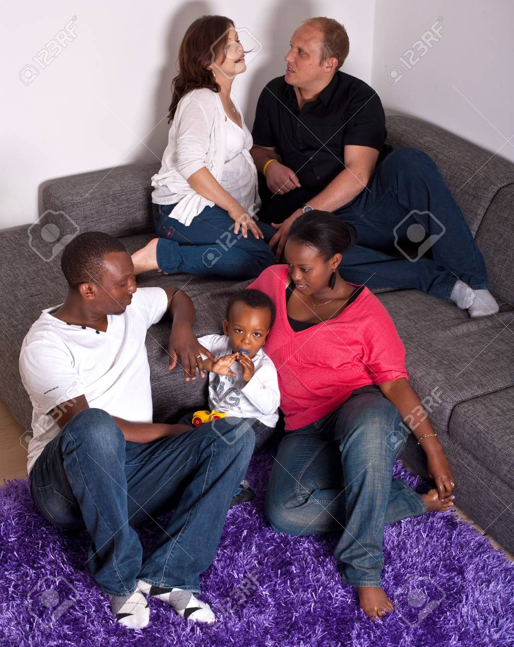 Interracial friends and family Stock Photo - 7093827