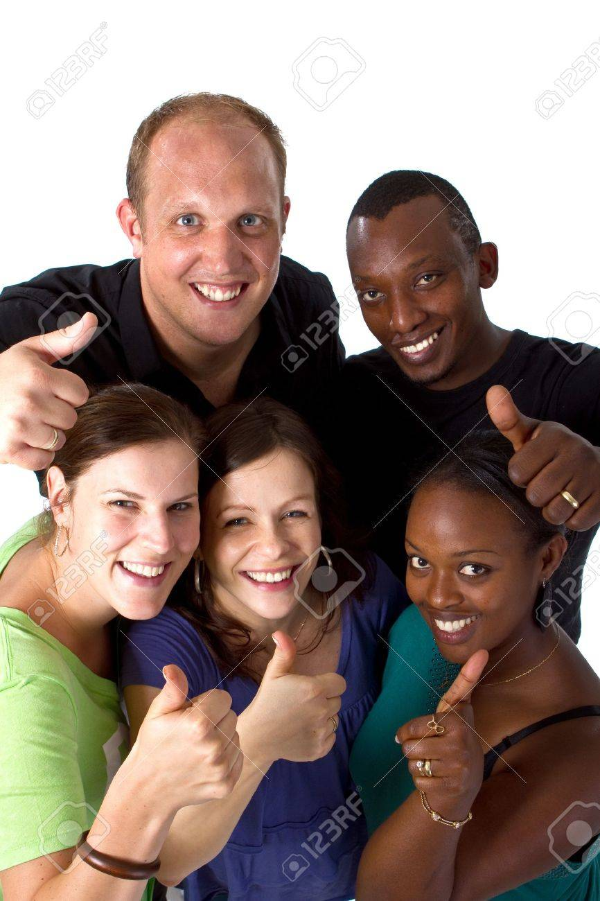 Young fresh multiracial group Stock Photo - 7291900