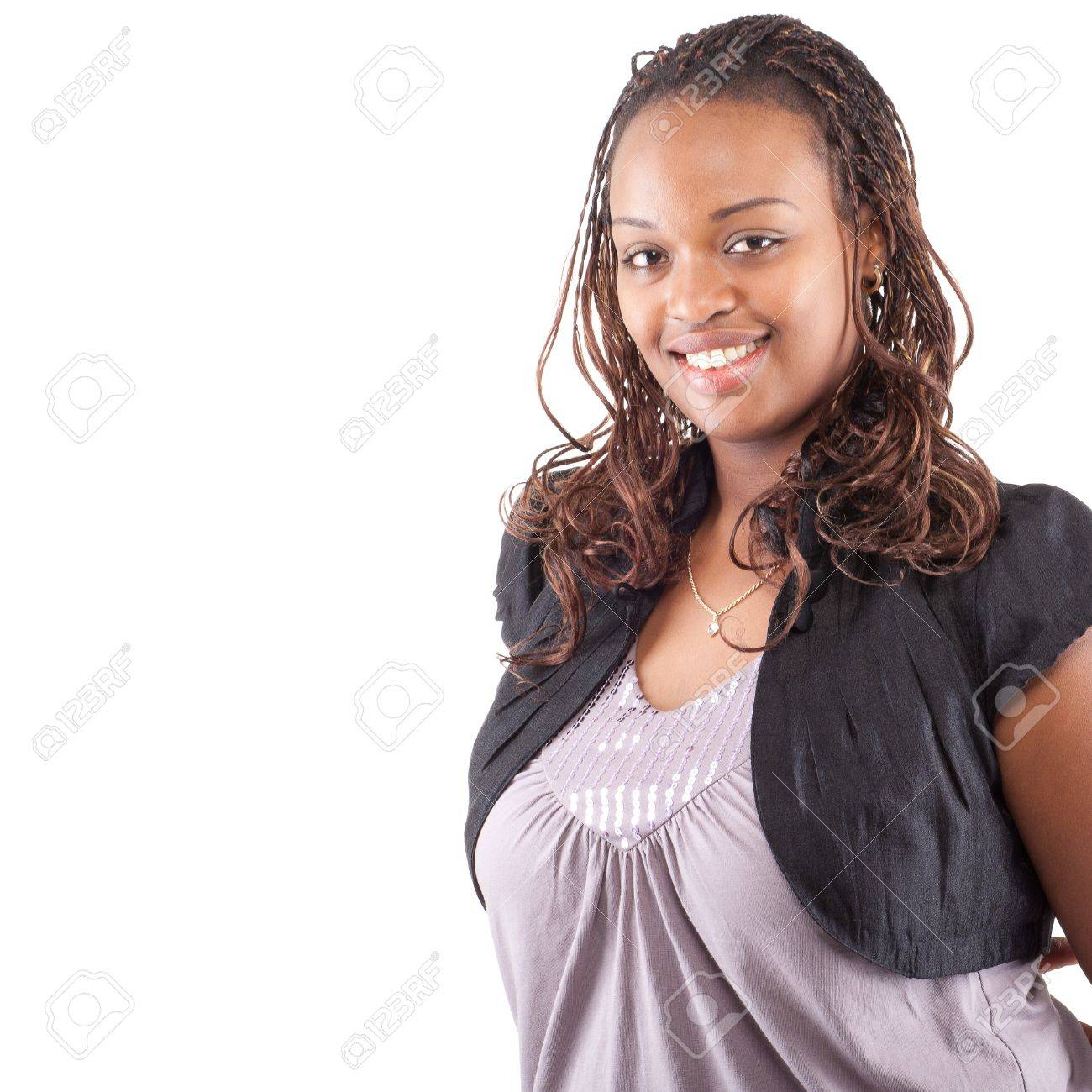 Cute young woman over white Stock Photo - 11860160