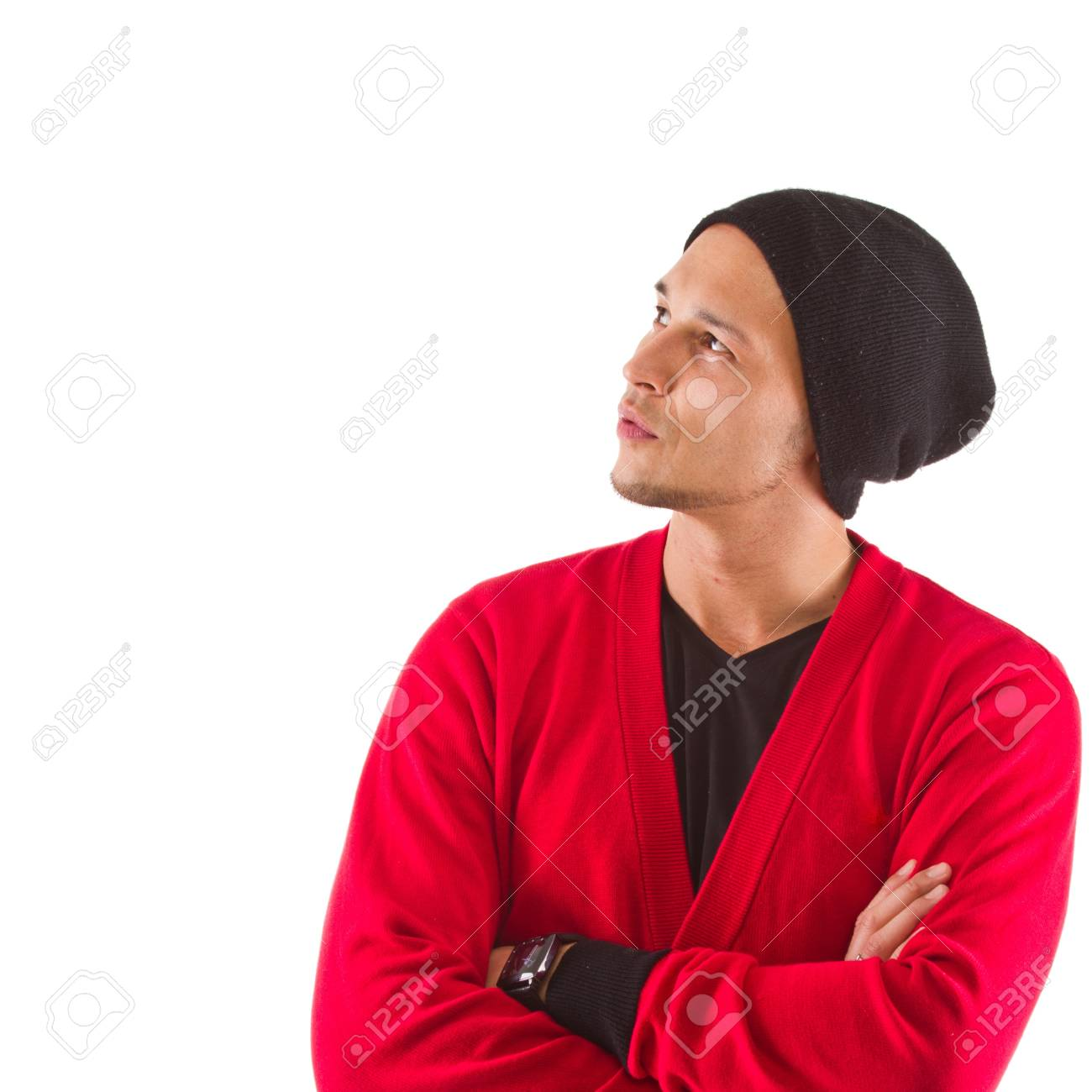 Young cool asian man isolated over white background. Stock Photo - 12654508