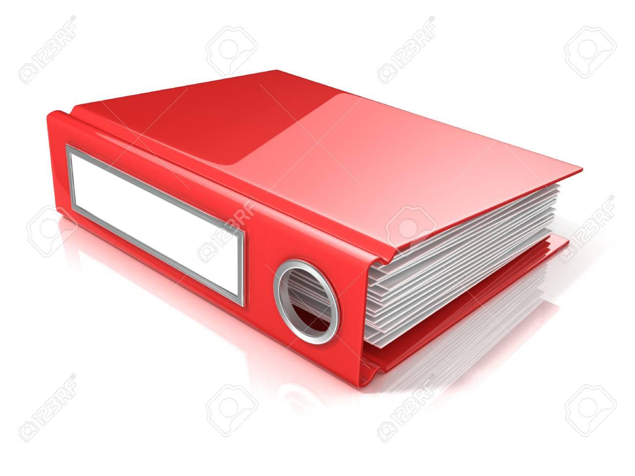 Ufficio Rosso E Bianco : Cartella ufficio rosso d rendering illustrazione isolato su